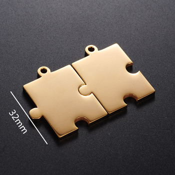 Yiwu Meise Gold Plated 316l Stainless Steel Autism Awareness Jigsaw