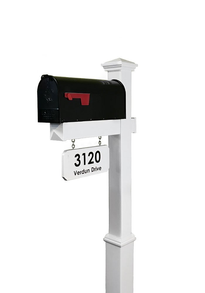 Black Rust Resistant Mailbox Includes Address Plaque Addresses Of Distinction Charleston Large Mailbox Post System Metal Mailbox With Pineapple Finial Scroll Mounting Hardware