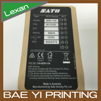 Serial Number Coded Lexan Label,Matte Surface Finishing 3c Product Label -  Buy 3c Product Label,Lexan Label,Serial Number Label Product on Alibaba com