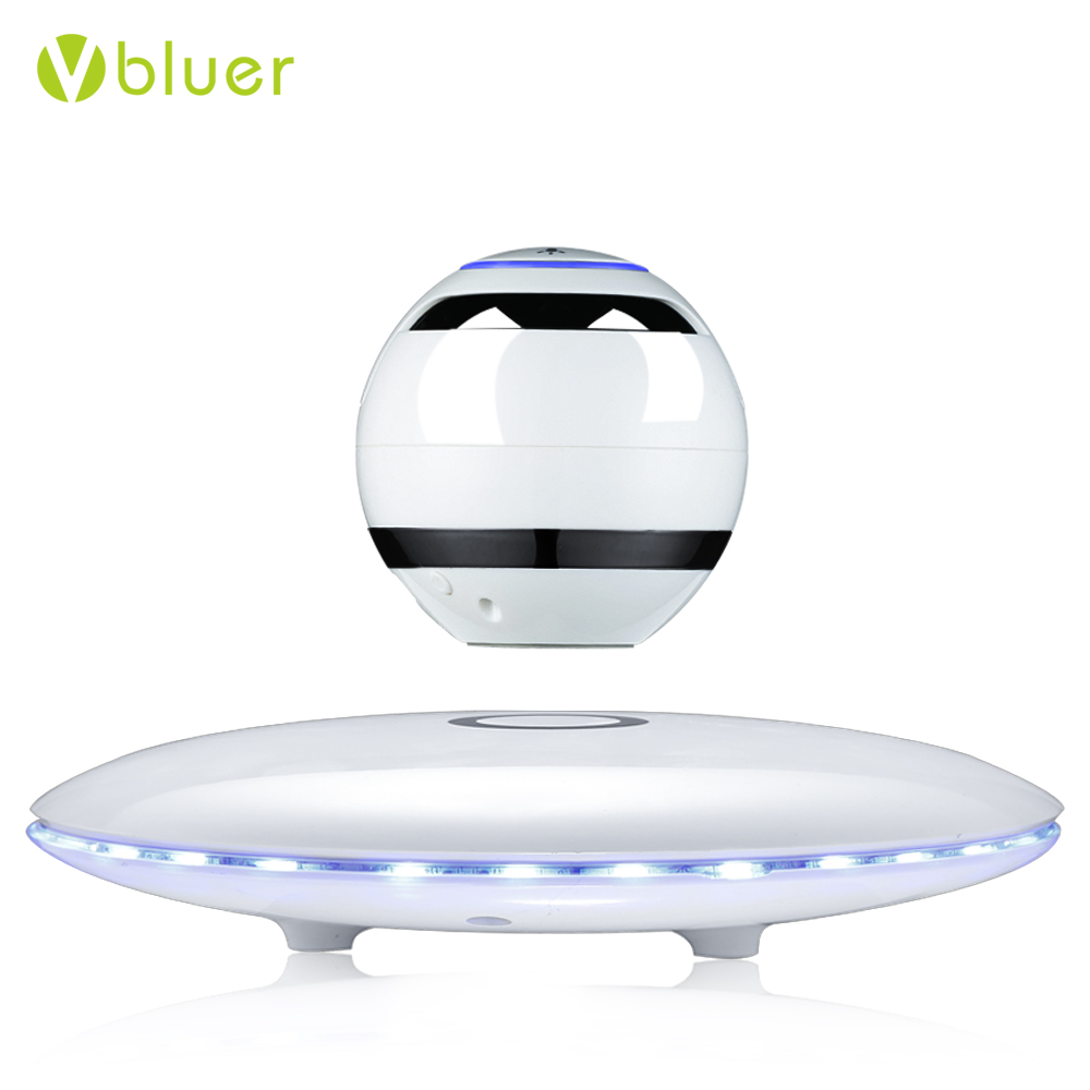 Stereo Sound Portable Wireless Floating Orb Bluetooth Speaker LED Magnetic Levitation Speaker for Smart Phone PC