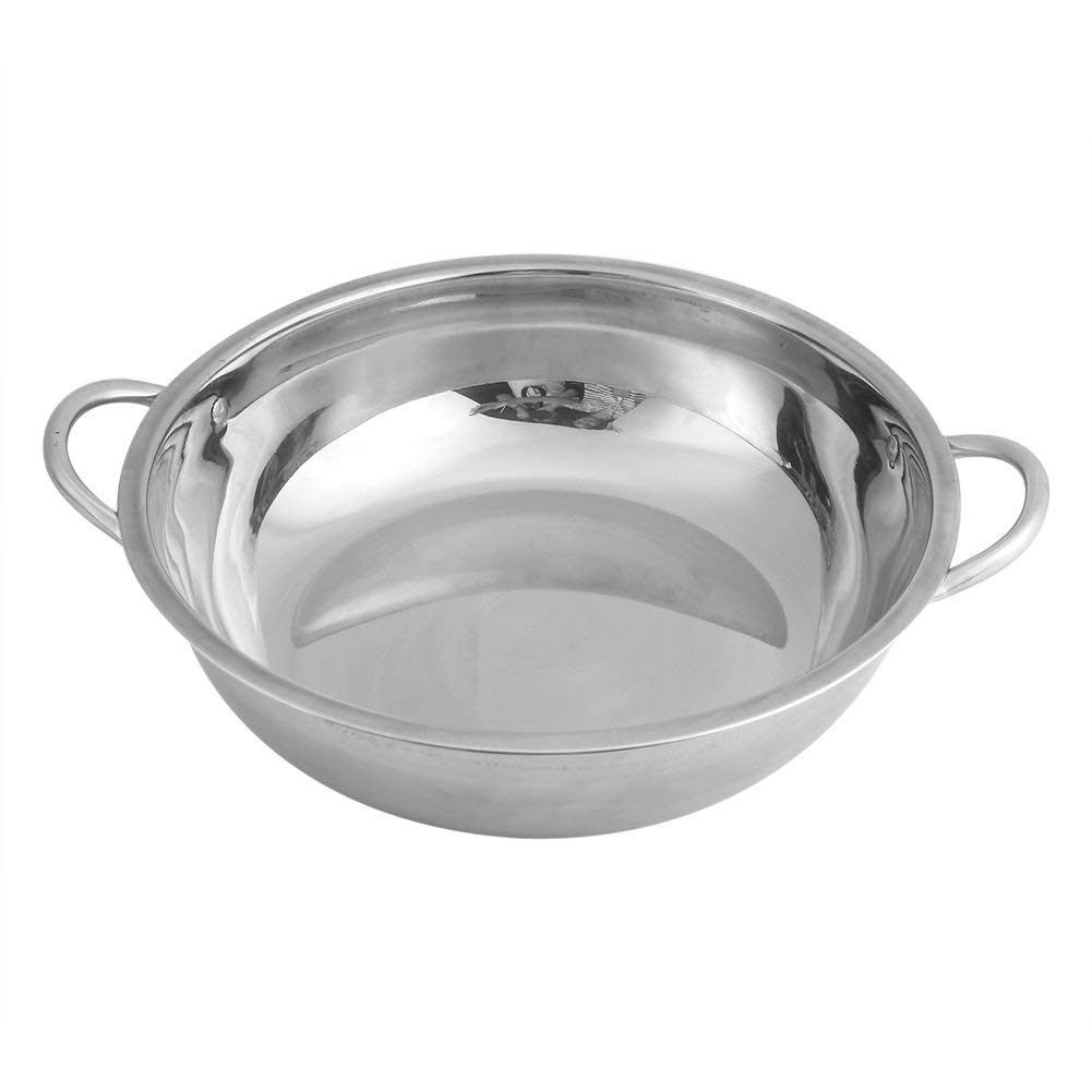 Hot Pot Pot,Acogedor 30cm/11.8inch Stainless Steel Shabu Shabu Pot for Induction Cooker,Gas Furnace,Electric Furnace, etc(30cm/11.8inch)