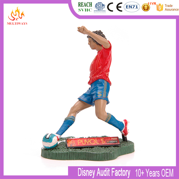 OEM Your Own Vivid Plastic Soccer Player Action Figure
