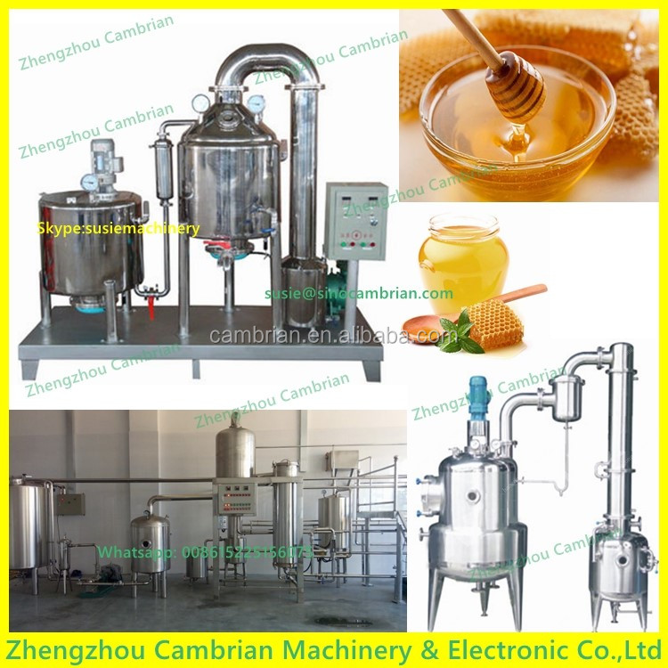 Flow perspective hole honey processing plant with auto temperature displayer