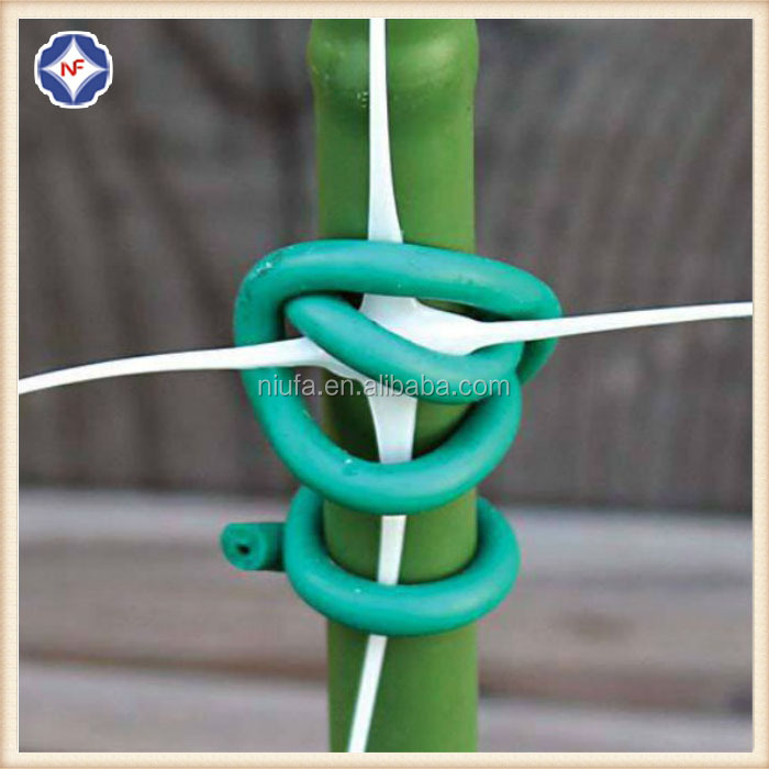 flexible green plastic garden plant soft twist tie for gardening
