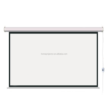 Electric matt white Projection Projector Screen with 72- 150 inches motorized projection screen