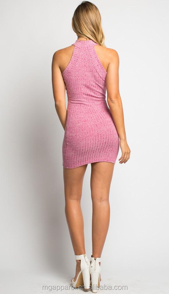 1a9a37ce37b Latest design high neck short mini dress women knit tight sweater dress  pattern