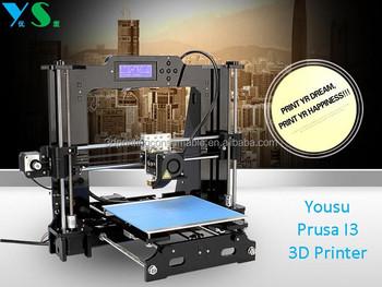 Yousu high quality diy prusa i3 3d printer low price desktop 3d