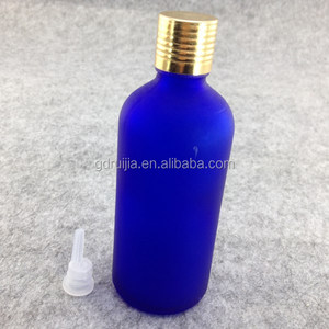 100ml vials with aluminum caps cobalt glass bottles glass spray bottle with dropper for cosmetic