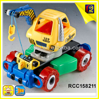 rc 4 wheel drive trucks child plastic rc diy truck toy collect 2ch r c truck light music buy. Black Bedroom Furniture Sets. Home Design Ideas