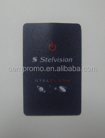 Promo Wholesale Custom Logo Pocket Credit Card LED Torch