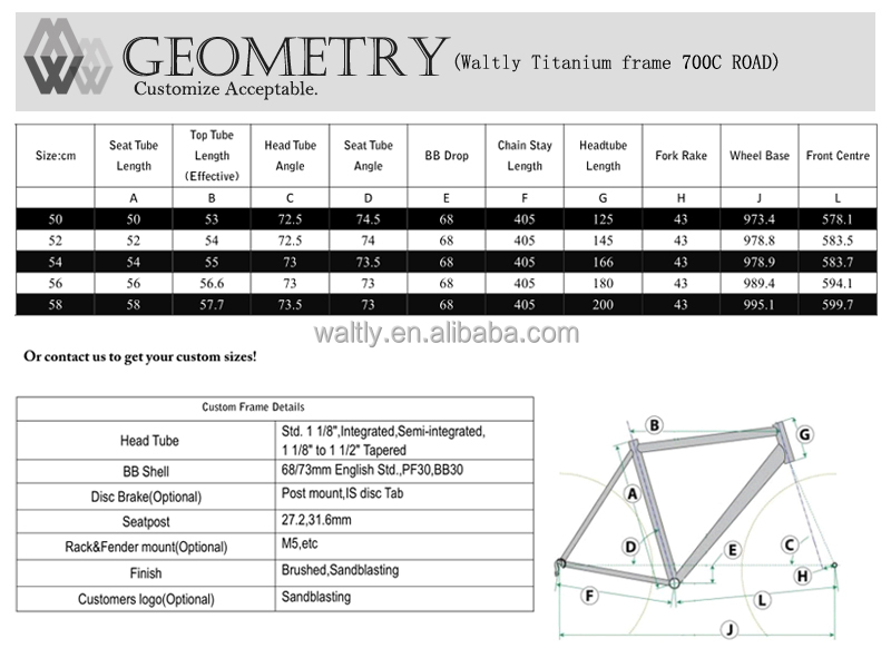 Fast delivery titanium cyclocross bicycle frame