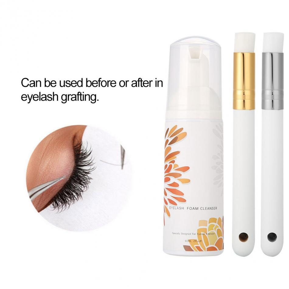 60 ml lash eyelash extension foam Individuele wimper shampoo foam cleanser