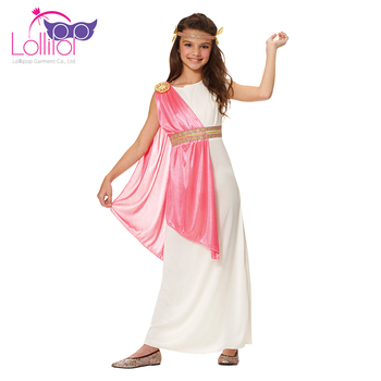 Directly factory sell ancient roman empress dressing up costumes for kids girls