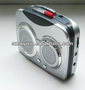 portable walkman radio cassette recorder player with FM radio
