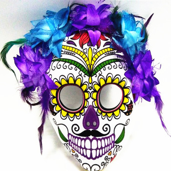 09229a894f9 Halloween Costumes Sugar Skull Senor Bones Dia de los Muertos Masquerade  Mask Day of the Dead