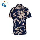 Manufactory wholesale short sleeve floral soft rayon mens beach wear shirts