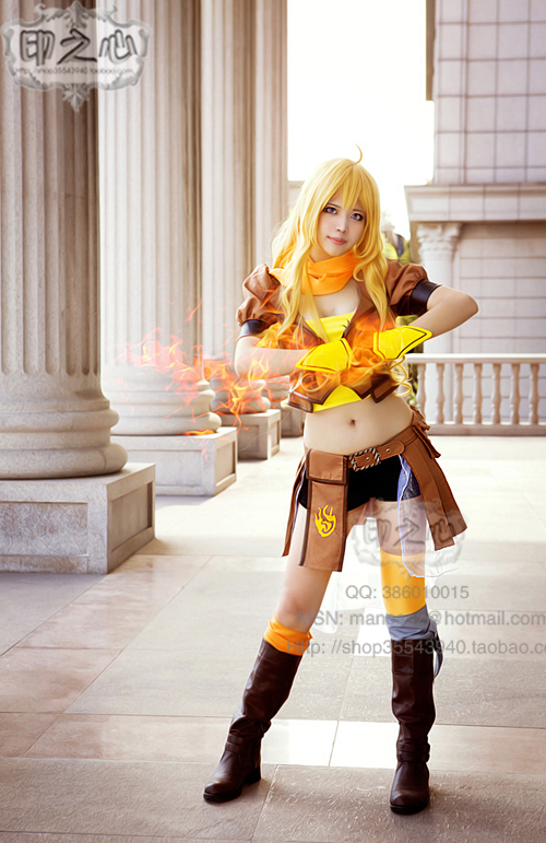 Hot Sell New anime RWBY Yang Xiao Long Cosplay Costume ...