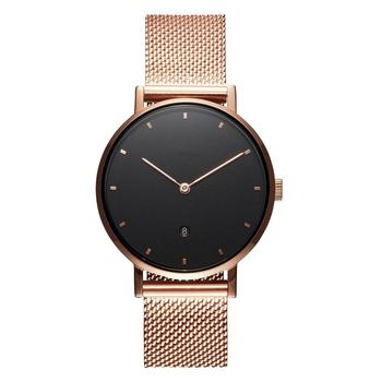 Date Japan Movt Custom Logo Ladies Watches With Mesh Strap