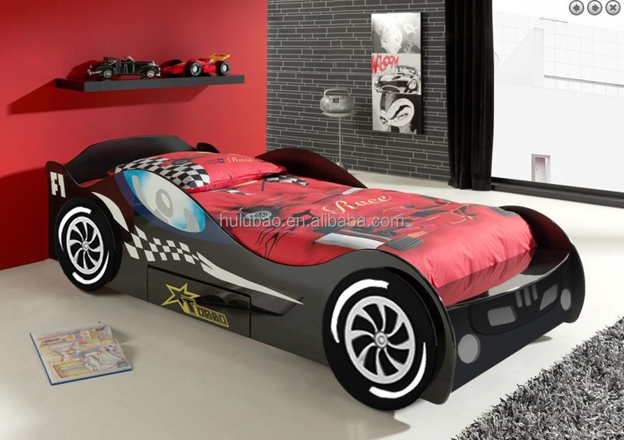 king size race car bed kids car shape bed with wardrobecb 1152