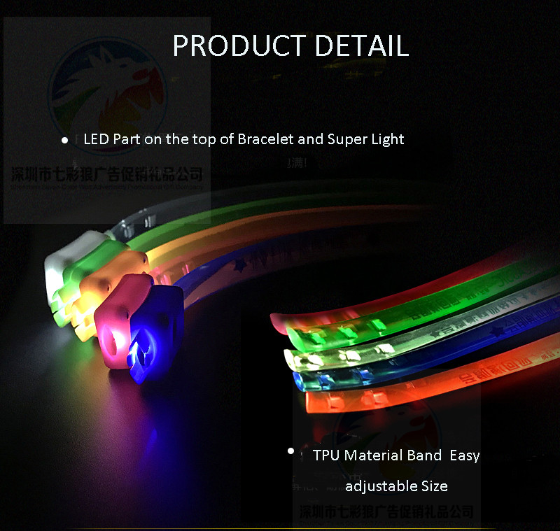 Cheap Price  OEM Logo LED Wristband For Event/Concert Custom New Party Events Custom  Light Up LED TPU Bracelet