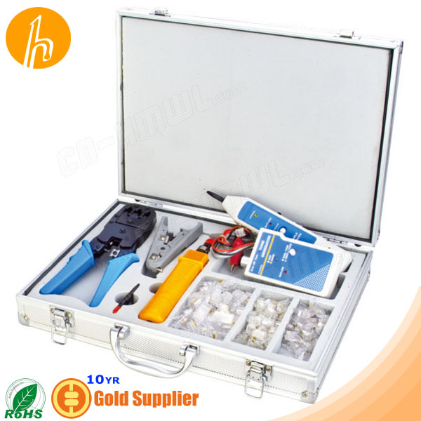 Network Tool Case with stripper cable tracker and Jacks