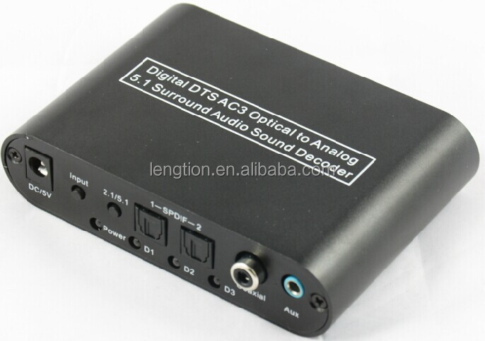 5 1 Audio Digital Sound Decoder Converter Optical Spdif