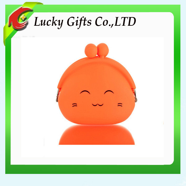 Cute shape silicone kids cat coin collect case