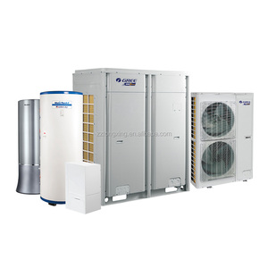 air source heat pump with pressure water tank for domestic hot water, home heating and air conditioner cooling