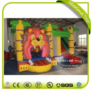NEVERLAND TOYS customized inflatable bouncer, inflatable castle, bouncer house lion inflatable bouncer house for sale
