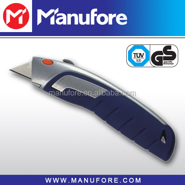 Hot Sale Switch Blade Utility Knife, Zinc Alloy and Anti-slip Soft Grip Handle