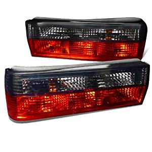Spec-D Tuning LT-E362RPW-APC Bmw E36 3-Series 2Dr Euro Red Clear Tail Lights
