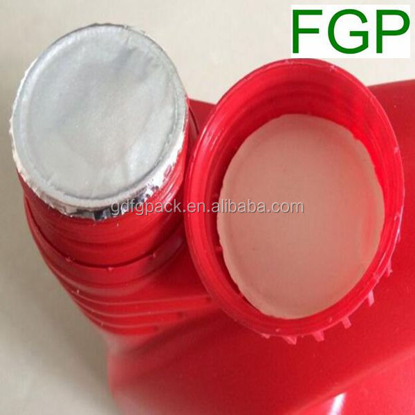 China factory supply high quality 2-piece induction aluminum foil seal liner/wads with cardboard for PP,PE,PET,glass bottle