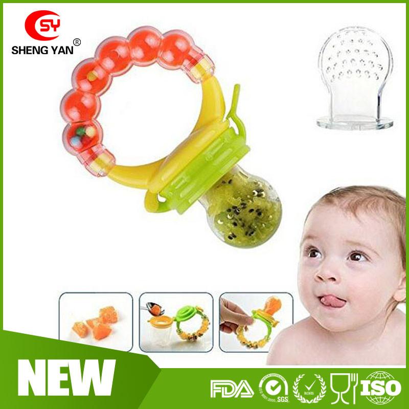 Fda Soft Baby Food Feeder Fruit Teething Toy Silicone Teether Nibbler