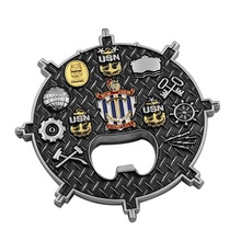 Navy Display Us Custom Blank Emaille 3D Flesopener Army Case Metal Voetbal Doos Rcmp Houder Armor Van God Ierse uitdaging Coin