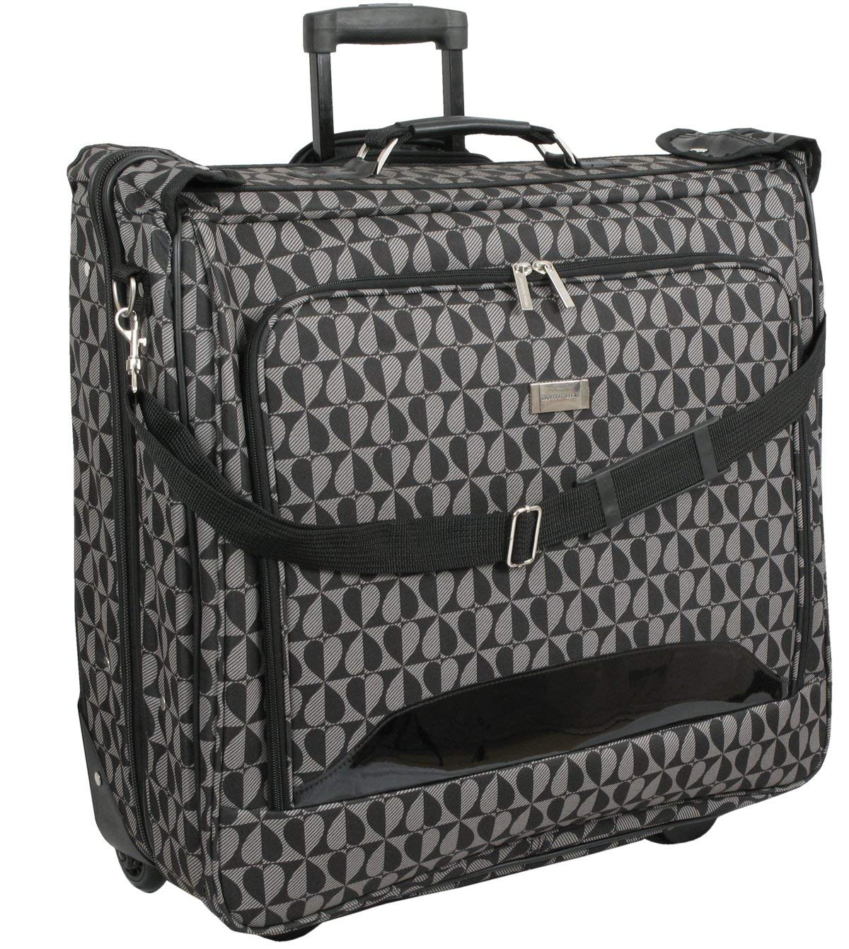Get Quotations Geoffrey Beene Deluxe Rolling Garment Bag Hearts Fashion Travel Carrier With Wheels