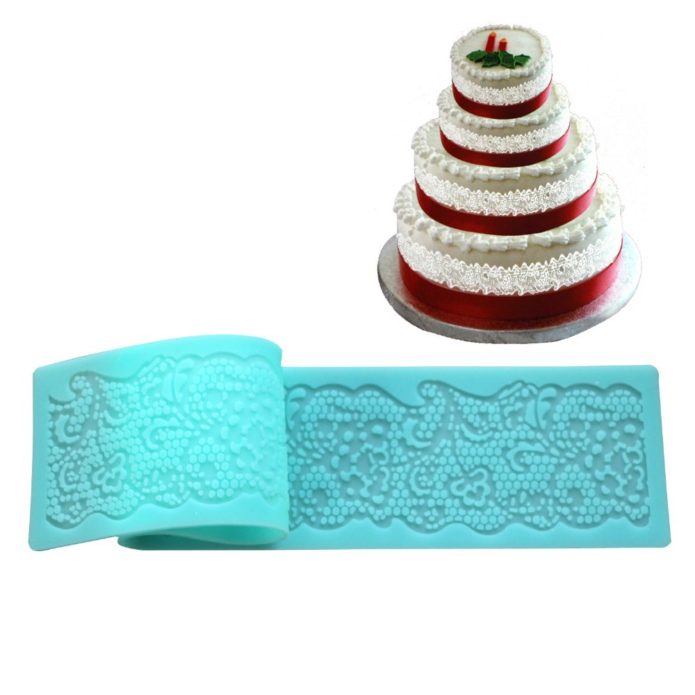 Silicone Cake Tools Lace Mats Mold Silicone Lace Mat Fondant Cake Decorating Too
