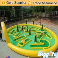 Interesting Commercial Inflatable Golf Club Track Sport Game for Sale