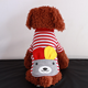 lovely stripe dog outfits for small pet smile design top paw dog sweater sale Rabbit clothes