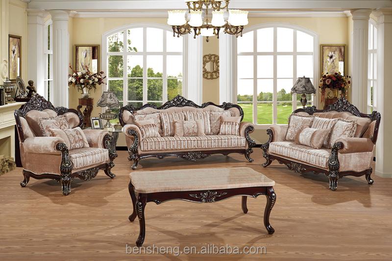 S1322 foshan shunde furniture factory elegant neo - Sofas clasicos de tela ...