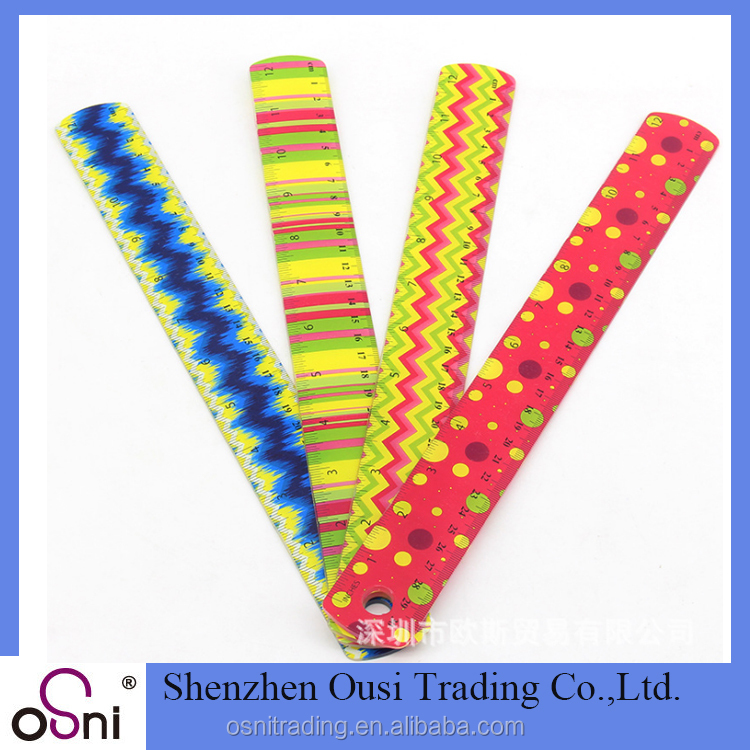 Promotional plastic ruler customized 30 cm 12 inch ruler