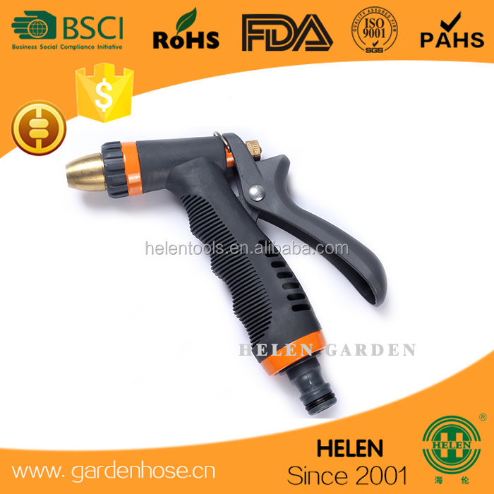 metal adjustable double nozzle hose gun car washing hose gun