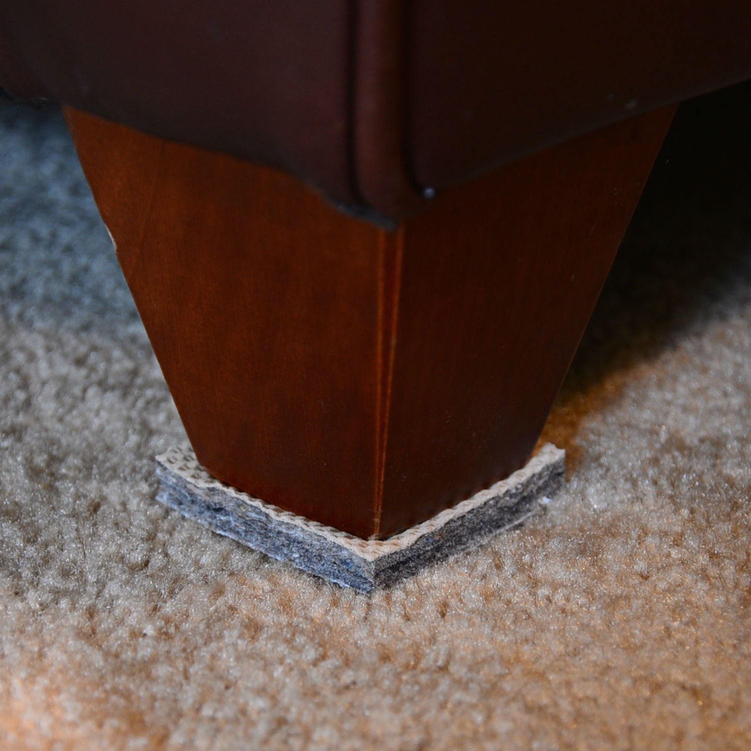 DURA-GRIP® Non-Slip Gripper Pads STOP FURNITURE FROM SLIDING ON CARPET - No Sticky Mess (2 inch square - set of 4)