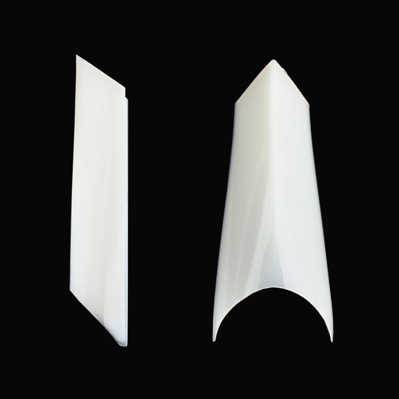 Ecbasket 500 Pcs 10 Sizes French Sharp Ending Half Nails Tips French Acrylic Nails Stiletto False Nail Tips with Bag (Natural)