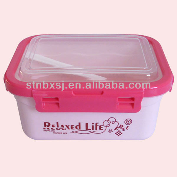 Children's Lunch Box With Cutlery Set 1.1L Promotional Gift <strong>Plastic</strong>