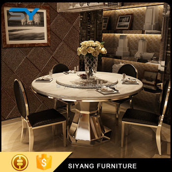 6 Seater Glass Top Metal Base Dining Table Popular Ct013