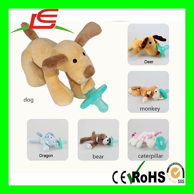 Funny Animal Dolls Softtextile Baby Reborn Silicone Mam Pacifier