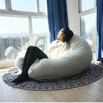 Nouveau Design Grande Taille Carré Confort Salon Sac De Haricots Lit Pour  Adultes
