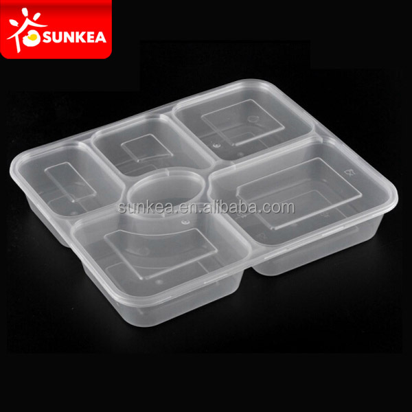 2 compartiment rectangulaire transparent pp r cipient de for Maison container 50000