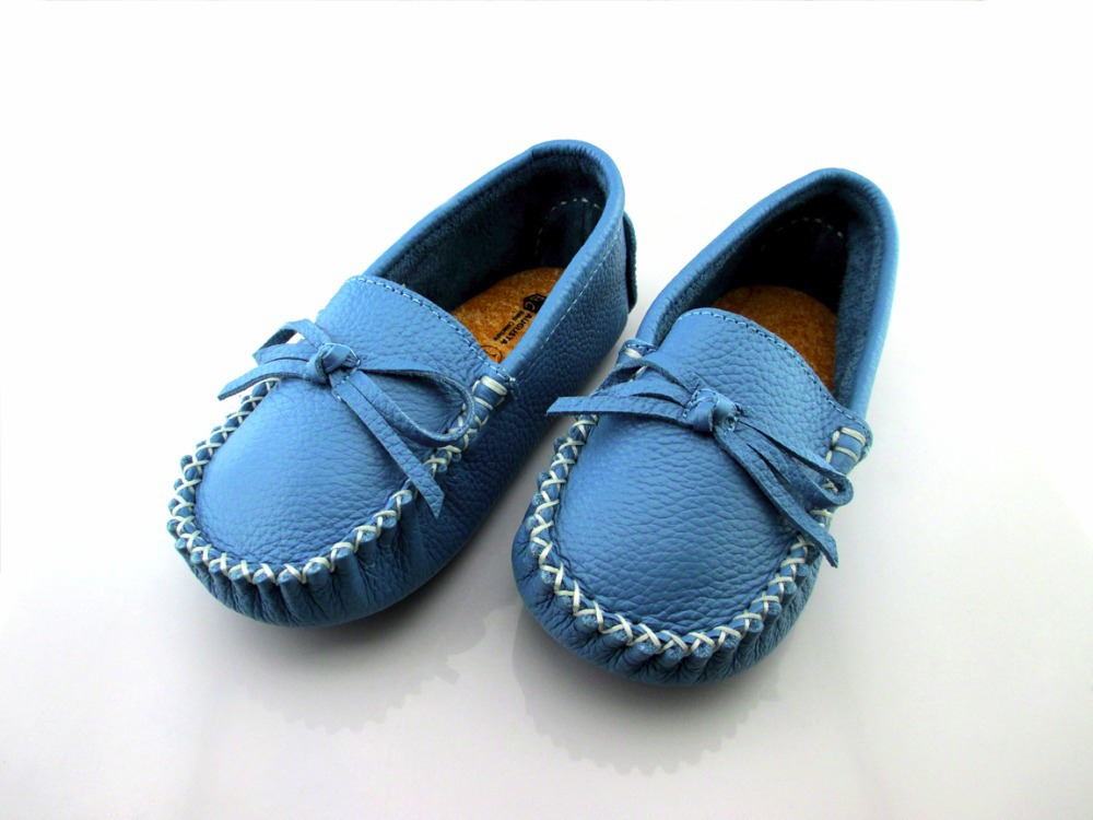 First top layer of leather baby boy & girl first walkers baby shoes flower prewalker toddler wholesale soft BDD006 blue