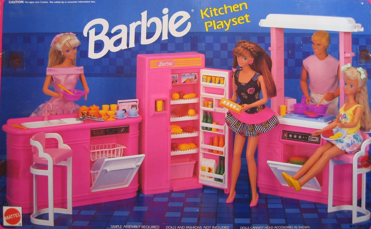 Buy Barbie Kitchen Playset 1992 Arcotoys Mattel In Cheap